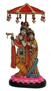 Paras Magic Radha Krishna Ji with Umbrella (7X4x11 inch)