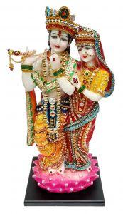 "Paras Magic Lotus Radha Krishna(7X6X15.75"")"
