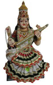 "Paras Magic Saraswati Mata Idol(16.25X9.5X27.5"")"