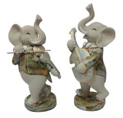 Paras Magic Musical Elephant Showpiece (5x3.5x10  inches) (4.75x3x10 inches)
