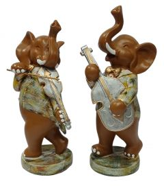 Paras Magic Musical Elephant Showpiece (5x3.5x10  inch)    (4.75x3x10 inch)