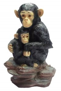 "Paras Magic Baby Mother Chimpanzee(8X5.5X10.5"")"