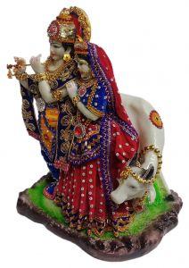 Paras Magic Radha Krishna Idol with Cow (12.5X9X15 inch)
