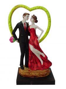 Paras Magic  Couple Showpiece (Red & Black)