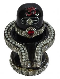 "Paras Magic Black Shiva Lingam Shiv Ling Idol(5X4.5X5.5"")"