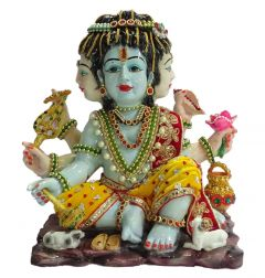 "Paras Magic Brahma Vishnu Mahesh Idol(13.5X7X12"")"