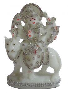 "Paras Magic White Durga Mata Idol (5x1.8x7"")"