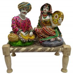 "Paras Magic Rajasthani Couple(10X7X10"")"