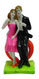 """Paras Magic Couple Sitting On Heart Pink And Black(4X3X9"""")"""