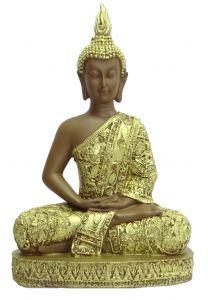 "Paras Magic Golden And Brown Buddha Showpiece(8.25X4X12.5"")"