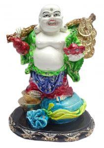 "Paras Magic Laughing Buddha Showpiece Green And Red(5.5X4X7"")"