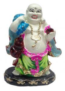 "Paras Magic Laughing Buddha Showpiece Pink And Green(5.5X4X7"")"