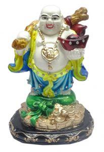 "Paras Magic Laughing Buddha Showpiece Yellow And Blue(5.5X4X7"")"