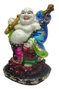 "Paras Magic Laughing Buddha Showpiece Pink And Blue(5.5X4X7"")"