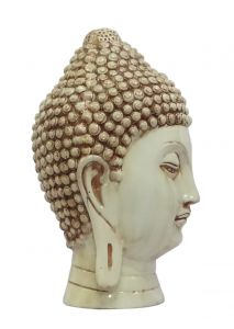 Paras Magic Off  White Buddha Face Showpiece for Home Décor (6.75X6.75X11 inch)