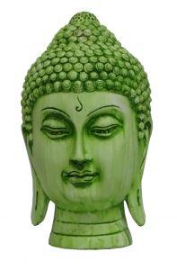 Paras Magic Green Buddha Face Showpiece for Home Décor (6.75X6.75X11 inch)