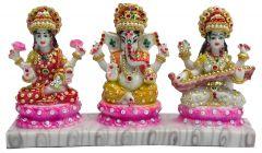 """Paras Magic Laxmi Ganesh Saraswati Ji (11.5X3X6.5"""")"""