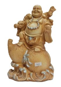 Paras Magic Laughing Buddha Showpiece(8X6X10.5 inch)