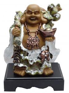 Paras Magic Laughing Buddha Showpiece(8X6X10'')