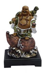 Paras Magic Laughing Buddha Showpiece(8X6X12.5'')