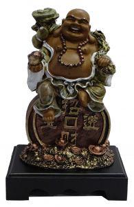 Paras Magic Laughing Buddha Showpiece(8X6X12'')