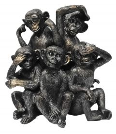 Paras Magic 5 Monkey Showpiece (9x4x9 inch)