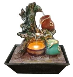 Paras Magic Three Matka Fountain With Tree (11.5x9x12.5 inch)