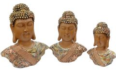 Paras Magic Buddha Showpiece (Set of 3) 1 (11x4x13 inch) 2 (9x3.5x11.5 inch) 3 (7x3x9 inch)
