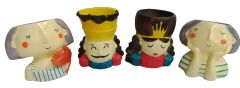 Paras Magic Small Doll Planter (3.5x3.5x3.5 inch each) (Set of 4 )