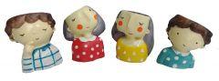Paras Magic Small Doll Planter01 (3.5x3.5x3.5 inch each) (Set of 4 )