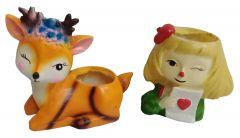 Paras Magic Small Doll Planter (3.5x3.5x3.5 inch each) (Set of 2 )