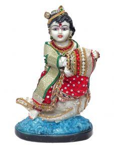 """Paras Magic Krishna Idol with Matka(7x4x9"""")"""