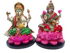 "Paras Magic Lotus Lakshmi Ganesh Idol(16.53x8.26x11.41"")"