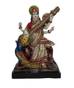 "Paras Magic Saraswati Idol(8X6X12.5"")"