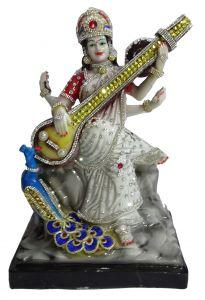 "Paras Magic Saraswati Idol(9X6.5X12"")"