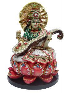 "Paras Magic Saraswati Mata Idol(8X8X11.5"")"