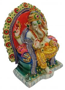 Paras Magic Singhasan Ganesh Ji (9X5.25X10.75 inch)