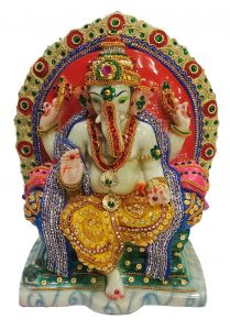 Paras Magic Singhasan Ganesh Ji (9X5.25X10.75 inch)