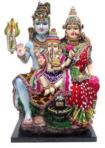 Paras Magic Shiv Family Statue  (13.75X8.75X17 inch)
