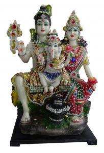 """Paras Magic Shiv Parivar Idol(10.5x8.75x18"""")"""