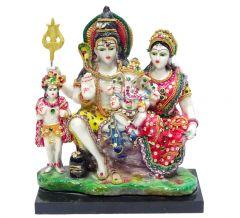 "Paras Magic Shiv Parivar Idol with Kartike(6X4X6.25"")"