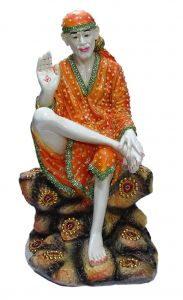 "Paras Magic Yellow Dress Sai Baba Idol(13.25X11.5X23.75"")"