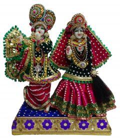 """Paras Magic Iskon Lord Radha Krishna Statue (13.5x7X18"""")"""