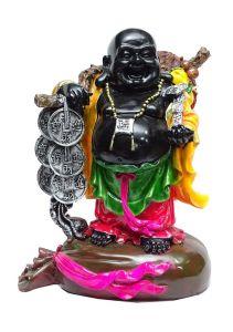 """Paras Magic Big Black Buddha(12X7X14.5"""")"""