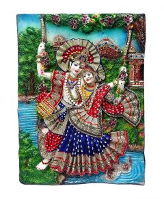 "Paras Magic Radha Krishna Painting(17.15x1.5x22.75"")"