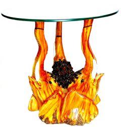 "Paras Magic Orange Elephant Table(11.81x11.81x11.81"")"