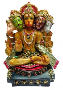 "Paras Magic Panch Mukhi Hanuman Idol(9X7X12.5"")"
