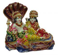 """Paras Magic Sheshnaag Vishnu Lakshmi Ji(7x7.5x6.25"""")"""