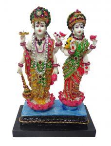 Paras Magic Vishnu Lakshmi Idol(6.25x3.5x9')