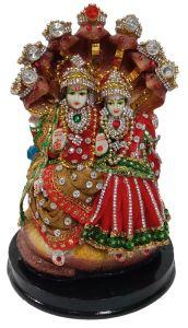 Paras Magic Vishnu Lakshmi Idol (6X5.5X9 inch)